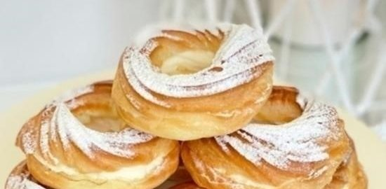 Заварные кольца с кремом из маскарпоне кулинарный рецепт