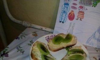 Бутерброды с сыром и киви кулинарный рецепт