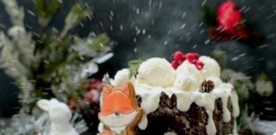 Карамельный медовик «Зимний пень» кулинарный рецепт