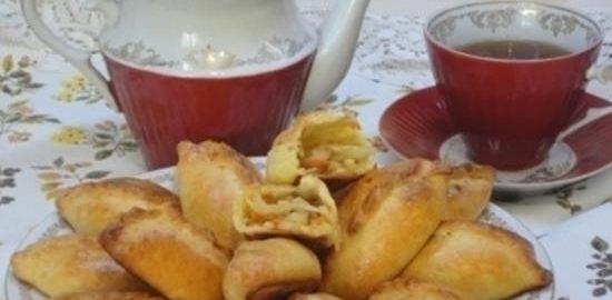 Печеные пирожки с капустой кулинарный рецепт