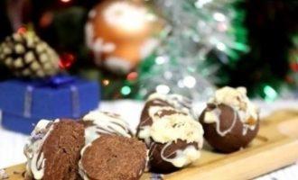 Шоколадные конфеты со сливочным сыром и лавандой кулинарный рецепт