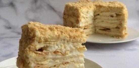 Торт «Наполеон» кулинарный рецепт