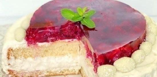 Торт «Вишневая нежность» кулинарный рецепт