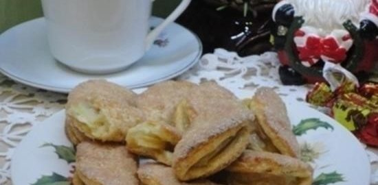 Творожное печенье с яблоками кулинарный рецепт