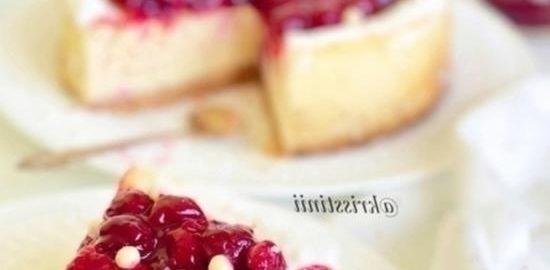 Чизкейк из рикотты с вишневым соусом кулинарный рецепт