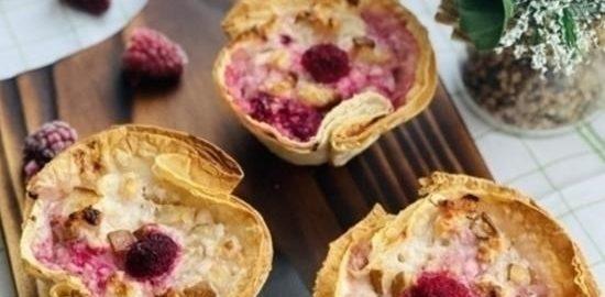 Корзиночки из лаваша с творогом и грушей кулинарный рецепт