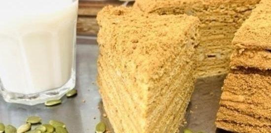 Медовый торт «Идеал» кулинарный рецепт