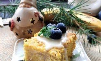 Кукурузная запеканка с фруктами кулинарный рецепт