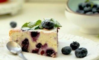 Запеканка творожная с черникой кулинарный рецепт